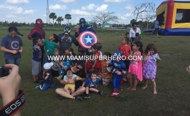 miami superhero party  party characters south florida