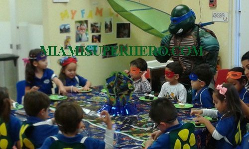 hire ninja turtles for birthday party