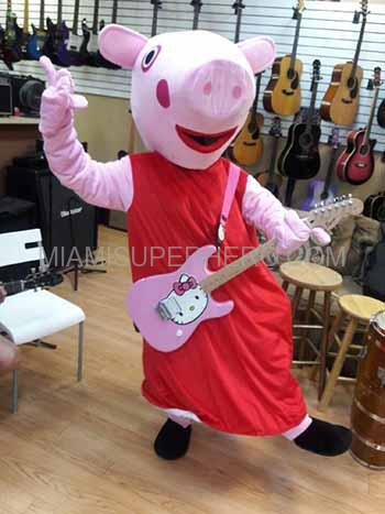 peppa the pig character rental