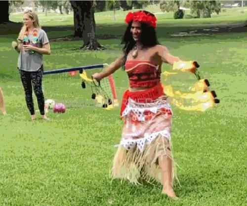 princess moana fire show