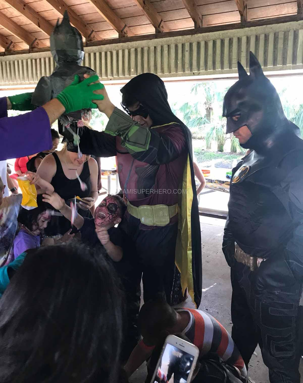 robin batman superhero kids party