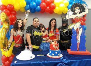 wonder woman batman kids party