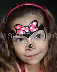 minnie mouse face painter