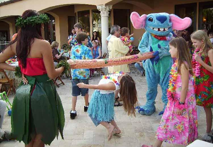 hula dancing kids party
