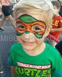 ninja turtle face painter