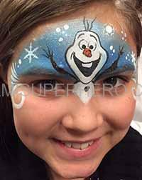 olaf face painter