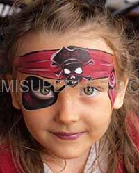 pirate face painter in miami beach