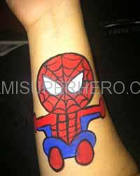 spiderman body painter