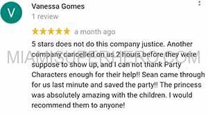 princess party reviews for miami superhero