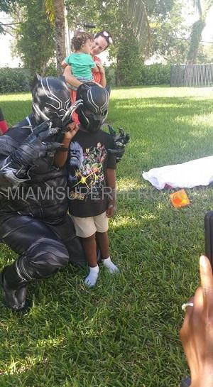 Black panther Kids Party character