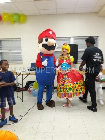 Mario and face painter