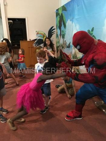 spiderman kids party character