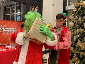 rent santa with grinch for christmas party
