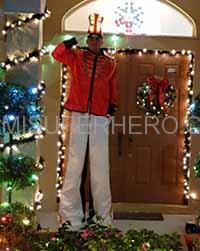 stilt walker christmas party