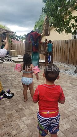 Hire Spiderman kids party game