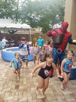Hire Spiderman superhero miami kids party