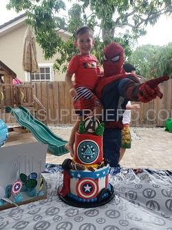 Spiderman kids party hire miami