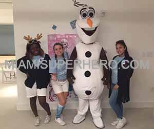 Snowman character for Christmas parties