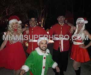 Santa Christmas Characters in Davie