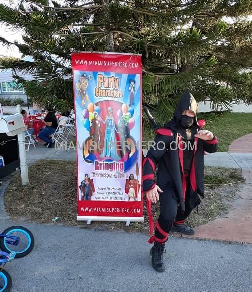 Ninja character rent in Miami