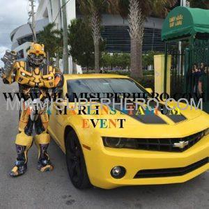 Character rental Bumble Bee by Camaro
